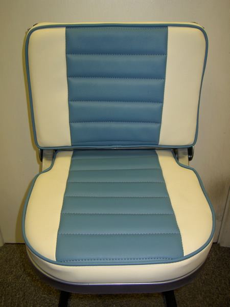 Buddy Seat Upholstery 2 Tone Fluted Vinyl Amp Piping Copy